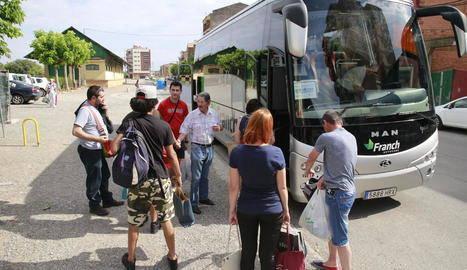 Cinc dies sense trens i un altre cop autocars entre Balaguer i la Pobla