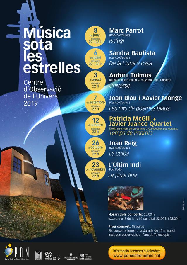 Concert de Joan Blau i Xavier Monge al Parc Astronòmic Montsec