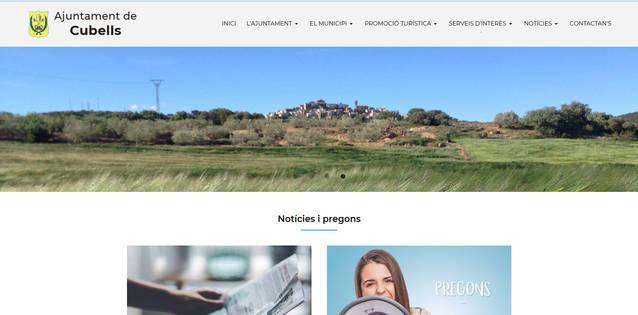 Cubells estrena pàgina web