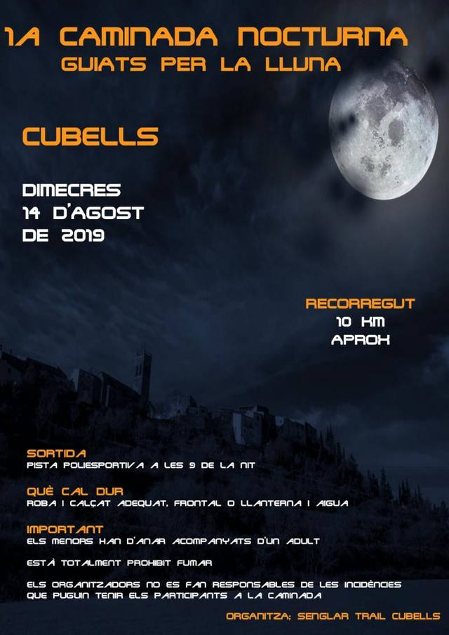 Cubells organitza la 1a caminada sota la llum de la lluna