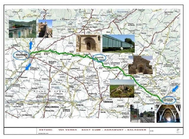 De Balaguer a Sant Guim de Freixenet passant per Agramunt, la futura Via verda de la Vall del Sió
