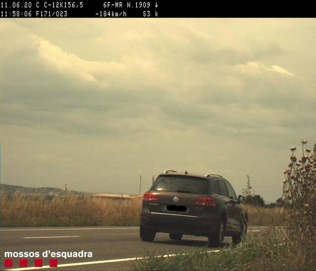 Denunciat per circular a 184 km/h per la C-12 a Menàrguens