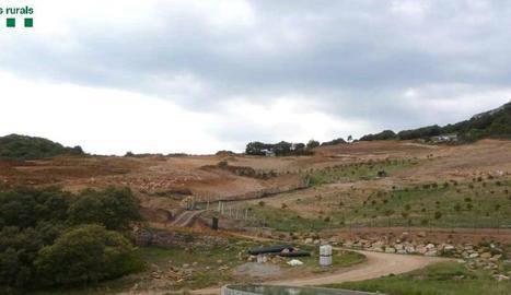 Denunciat per segon cop per transformar una finca en zona protegida