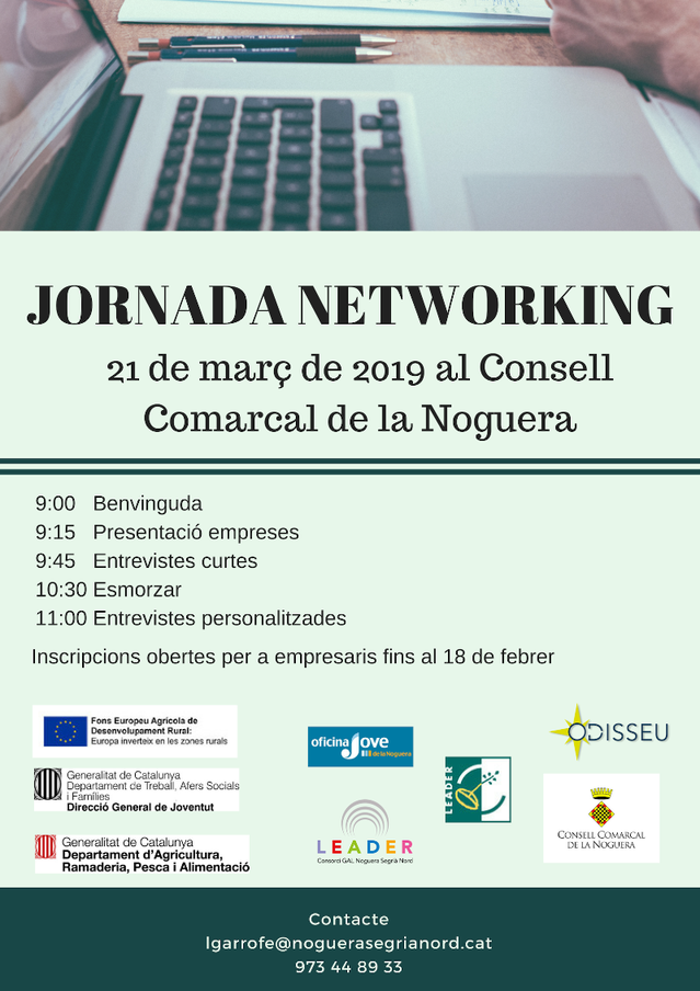 Dos sessions formatives prèvies complementaran la Jornada de Networking, que oferirà gairebé 40 llocs de treball al jovent de la Noguera