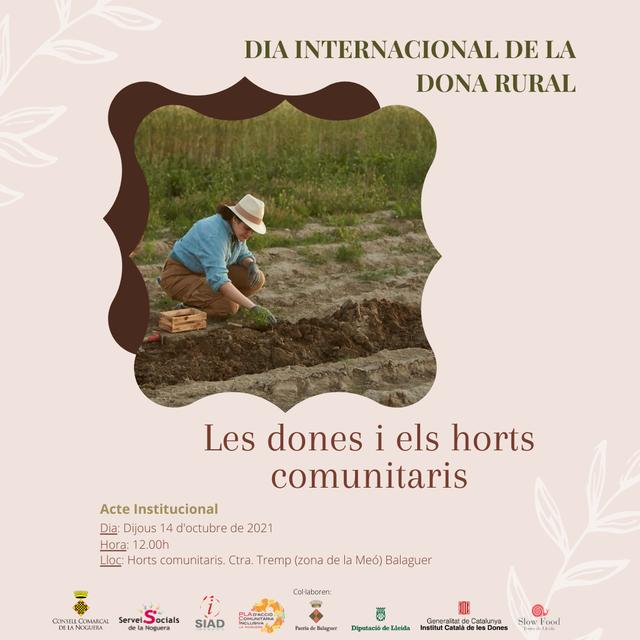 """El """"8 de març, 8 mesos"""" del Consell Comarcal de la Noguera se suma al Dia Internacional de la Dona Rural"""