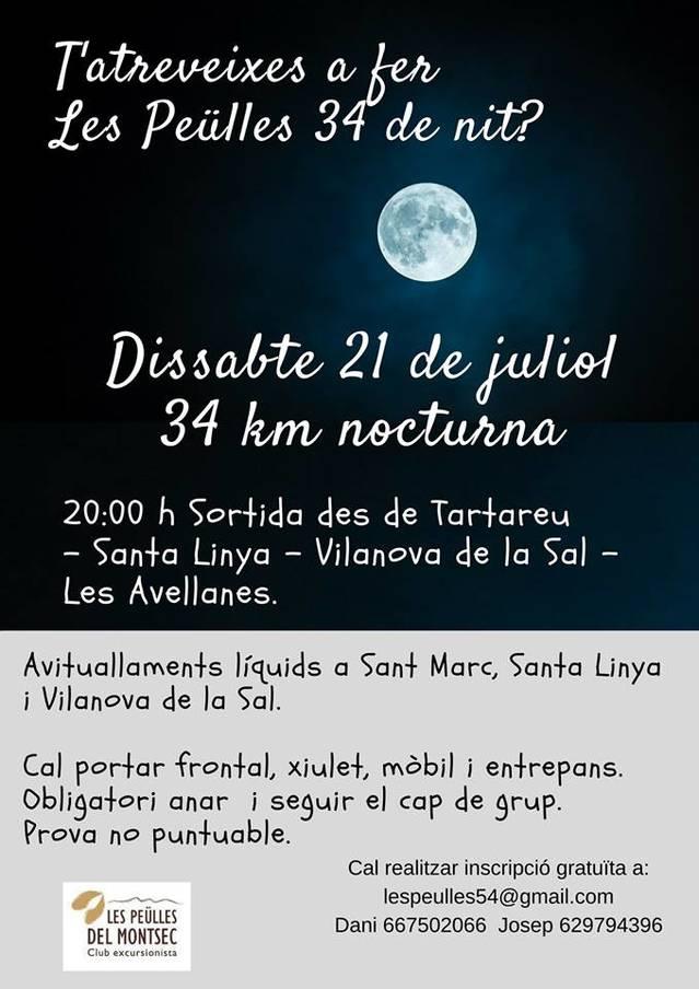 El C.E. Les Peülles del Montsec organitza una prova nocturna