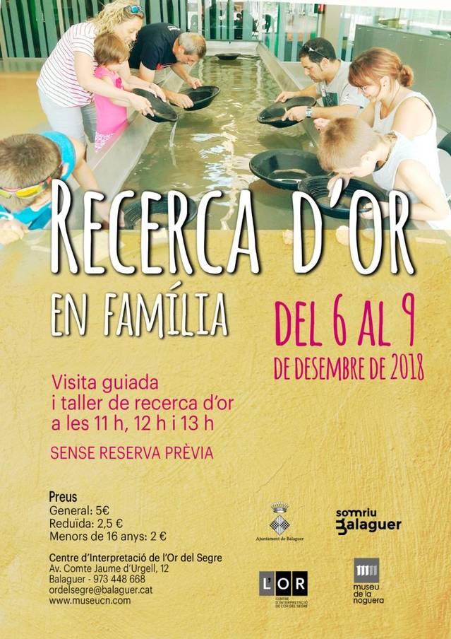 El Centre d'Interpretació de l'Or organitza diferents activitats al desembre
