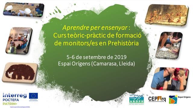 El Centre Espai Orígens de Camarasa acolirà el 5-6 de setembre el curs