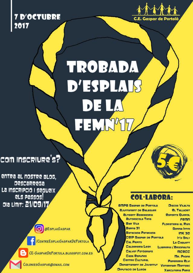El centre esplai Gaspar de Portolà acull la trobada d'infants i joves de la FEMN