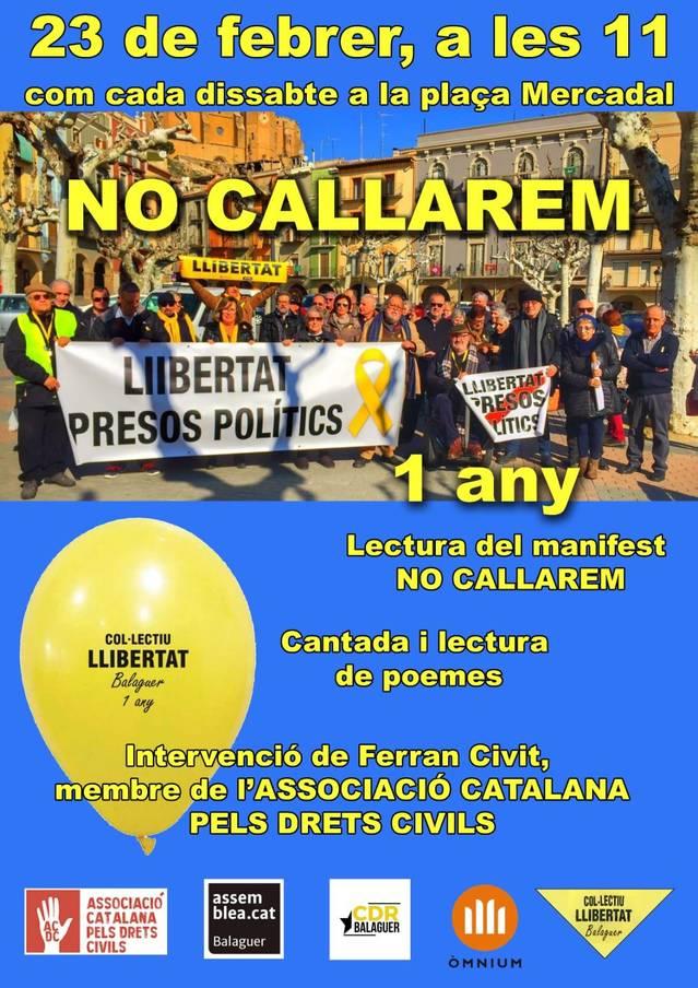 El Col·lectiu Llibertat de Balaguer celebra el seu primer aniversari