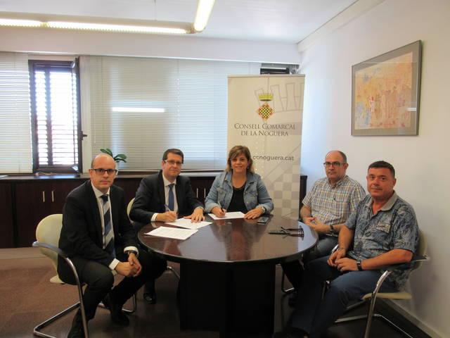 """El Consell Comarcal de la Noguera i la Fundació Bancària """"la Caixa"""" renoven el conveni de col·laboració"""
