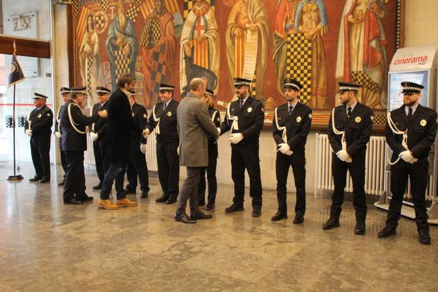 El cos de la Guàrdia Urbana de Balaguer ha celebrat avui la festivitat de la seva patrona, la Immaculada
