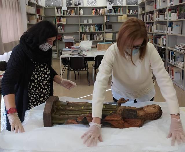 El Departament de Cultura diposita al Museu de la Noguera una talla gòtica que representa una santa amb l'heràldica del Comte Pere II d'Urgell