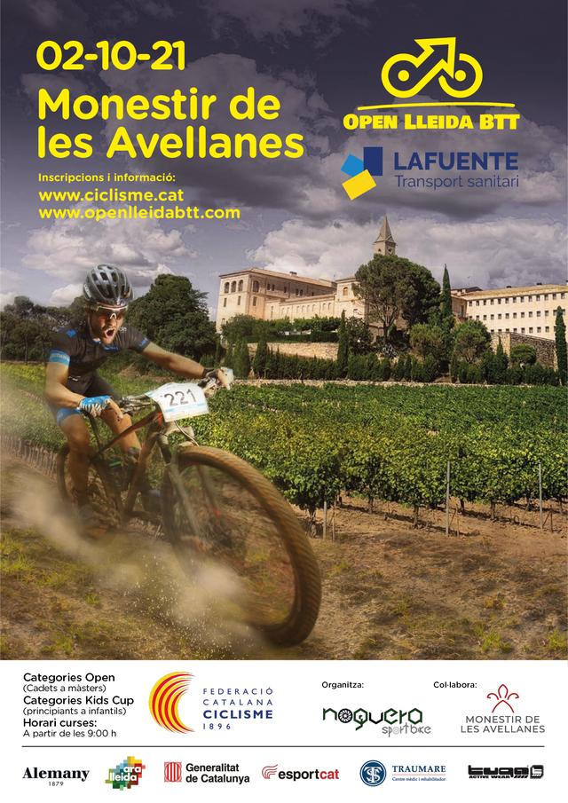 El Monestir de les Avellanes estrena circuit tancat de BTT acollint la competició oficial Open Lleida BTT