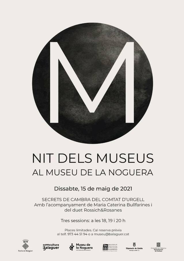 """El Museu de la Noguera celebrarà aquest any la Nit dels Museus el dia 15 de maig amb """"Secrets de cambra del Comtat d'Urgell"""""""