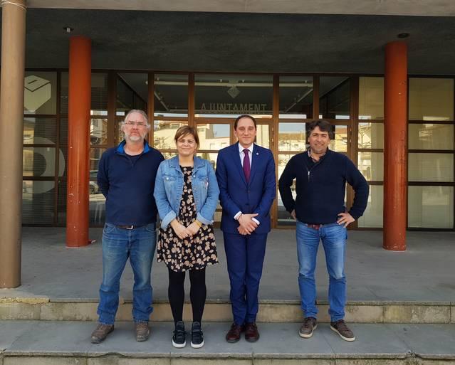El subdelegat del Govern a Lleida, José Crespín, es reuneix amb l'alcaldessa de Térmens