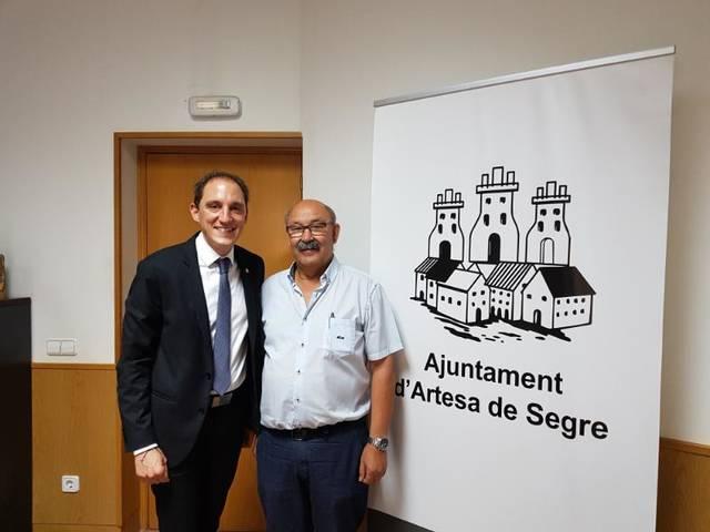 El subdelegat del Govern es reuneix amb els alcaldes de Vilanova de Meià i Artesa de Segre i l'alcaldessa de Ponts