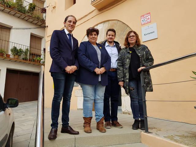 El subdelegat del Govern es reuneix amb l'alcaldessa de Castelló de Farfanya
