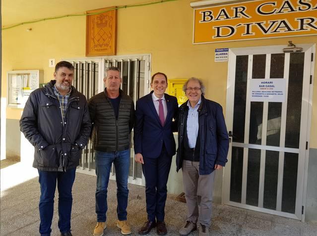 El subdelegat del Govern visita diversos paratges del projecte Camí Natural de la Noguera Baixa