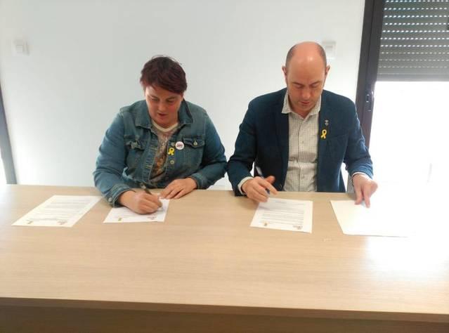 Els Ajuntaments de Balaguer i Os de Balaguer signen un conveni de suport i assessorament per als equipaments patrimonials d'Os, a través del Museu de la Noguera