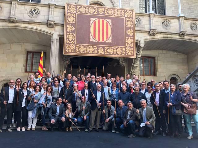 Els alcaldes de la Noguera participen a la concentració de Barcelona