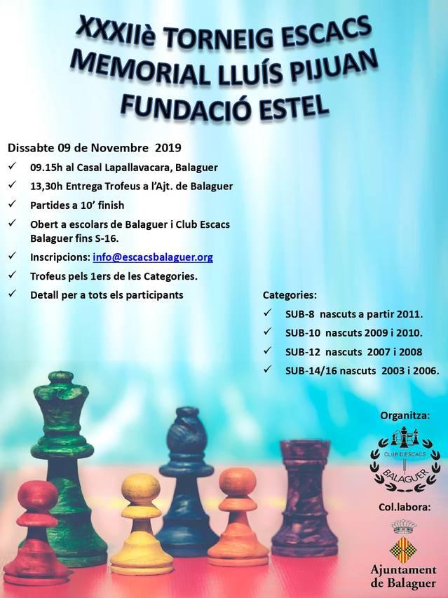 Escacs per la Festa Major de Balaguer