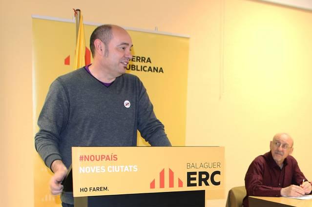 Esquerra Republicana de Balaguer proposa Jordi Ignasi Vidal com a candidat a l'Alcaldia de Balaguer