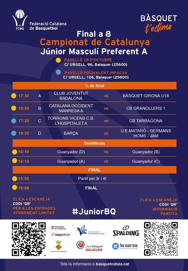 Fase Final del Campionat de Catalunya Júnior Masculí Preferent a Balaguer
