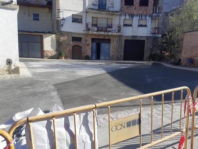 Finalitzen les obres de millora de la Plaça Mirada de Les Avellanes