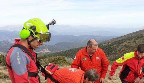 Greu després d'un accident de parapent a Vilanova de Meià