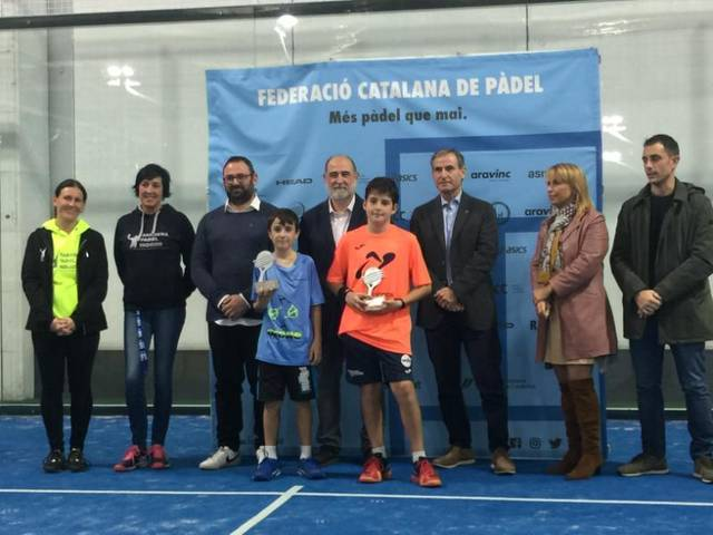 Íker Castillo i Gerard Navas sotscampions de Catalunya de Padel 2019 en categoria aleví