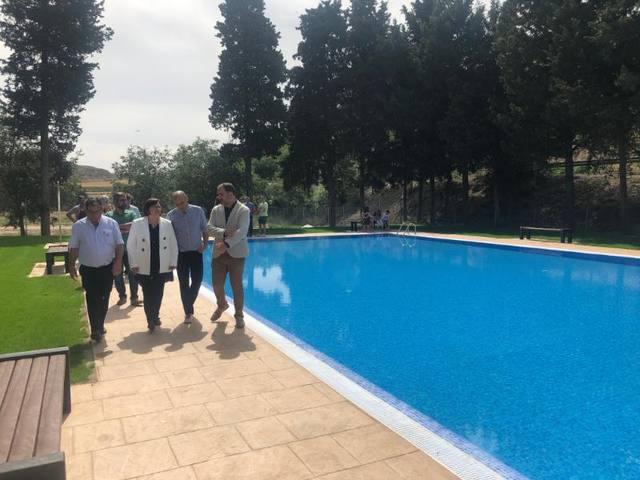 Inauguració de les obres de millora de les piscines municipals de la Sentiu de Sió