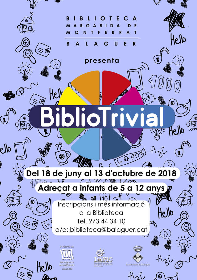 "Inici del ""Bibliotrivial"" a la Biblioteca de Balaguer"