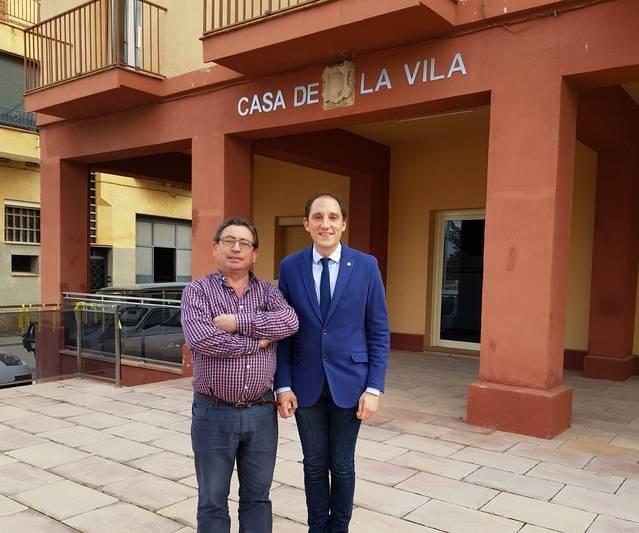 José Crespín es reuneix amb alcalde La Sentiu de Sió