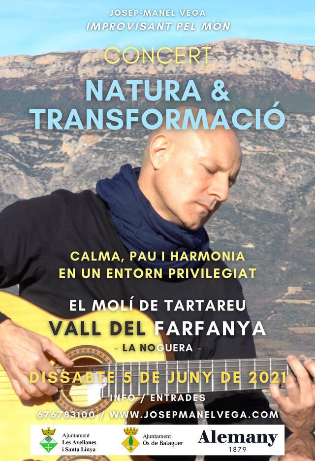 Josep-Manel Vega portarà al Molí de Tartareu l'espectacle Natura i Transformació