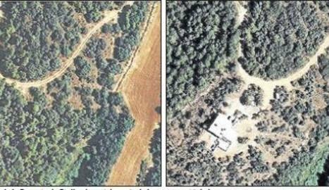 Jutjats per construir una casa al mig d'un bosc a la Baronia de Rialb