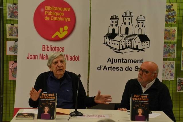 La Biblioteca d'Artesa de Segre va acollir la presentació del nou llibre d'Albert Vidal