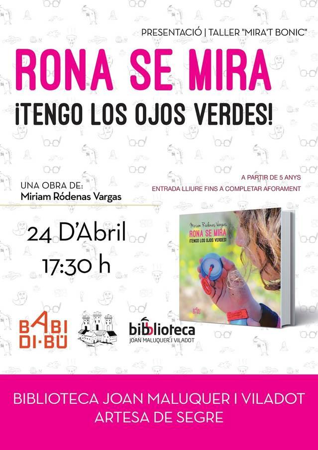 La Biblioteca d'Artesa prepara un taller amb miralls, inspirat en el conte 'RONA SE  MIRA'