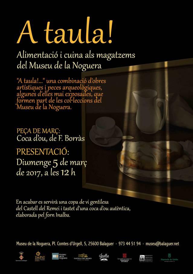 """""""Coca d'ou"""", la nova peça del projecte """"A taula!"""""""