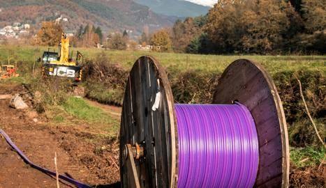 La fibra òptica arriba a 350 cases d'Os de Balaguer