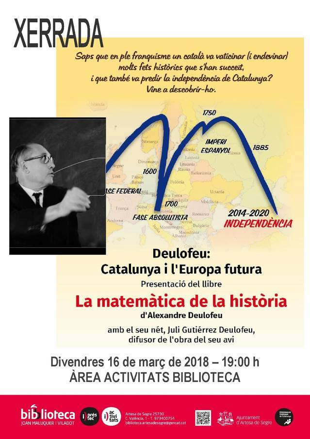 La matemàtica de la història a la Biblioteca d'Artesa de Segre