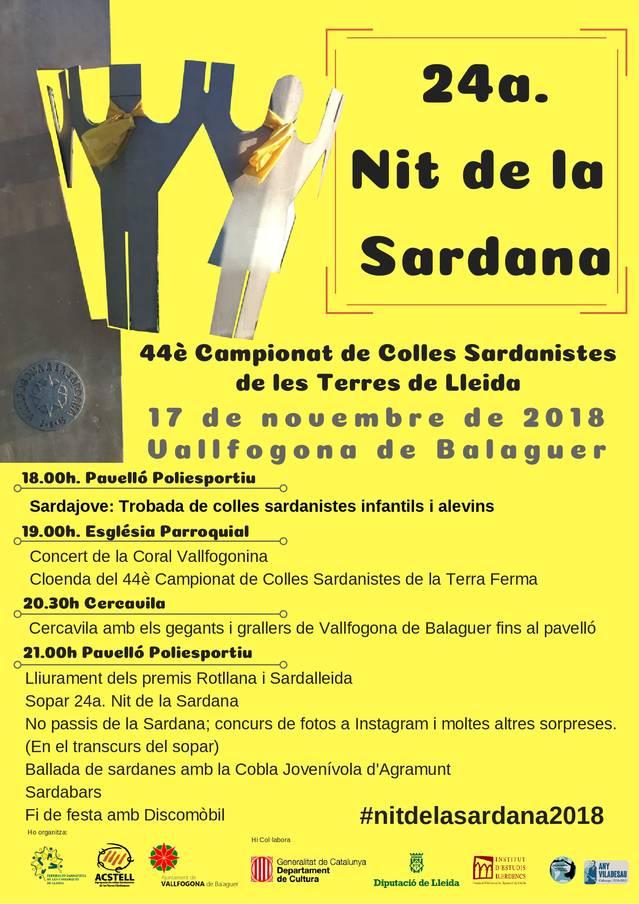 La Nit de la Sardana arriba a la 24a edició