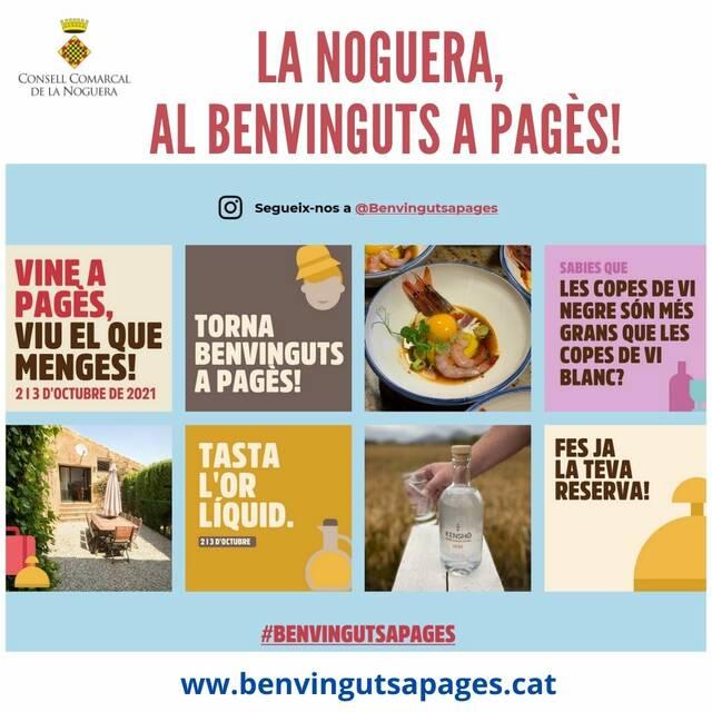 La Noguera participa al «Benvinguts a pagès La Festa» del 2 al 3 d'octubre de 2021