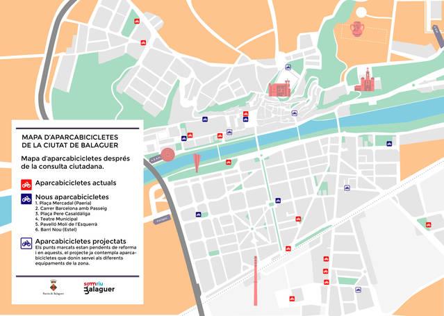 La Paeria de Balaguer augmentarà el nombre d'aparcabicicletes després d'una consulta ciutadana