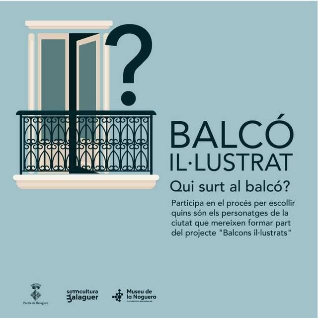 """La Paeria de Balaguer consulta quins han de ser els propers protagonistes dels """"Balcons il·lustrats"""""""