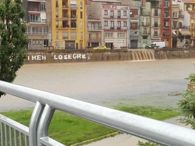 La pluja inunda Balaguer