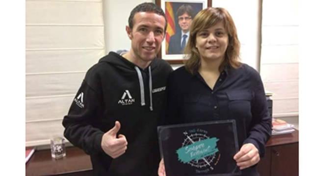 L'Ajuntament de Térmens es suma al repte solidari de l'atleta Raül Arenas