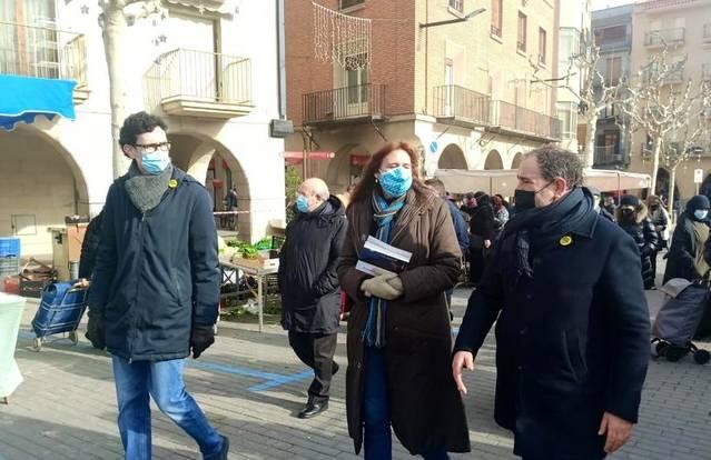 Laura Borràs visita Balaguer per la campanya de recollida d'avals de Junts per Catalunya