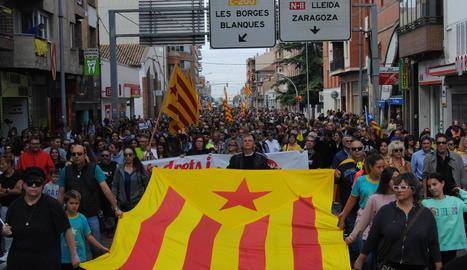 Les caminades omplen les carreteres per participar en la marxa de Lleida