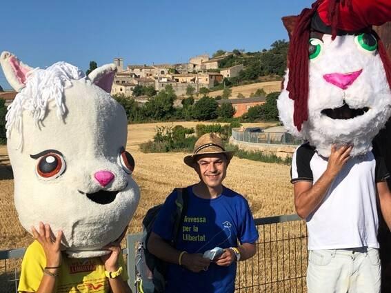 Les mascotes de CUNIPIC i Jordi Turull es troben a la comarca de la Segarra